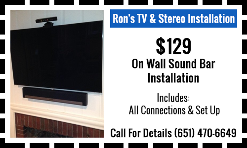 $129 On Wall Sound Bar Installation